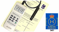 UKAS Calibrated Digital Thermometer & Probe